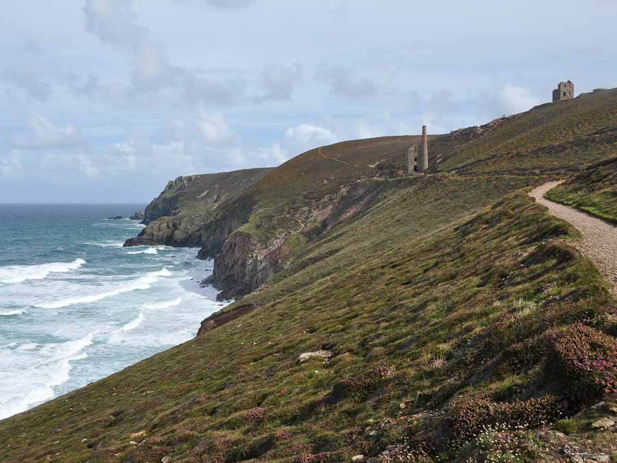 South West Coastal Path near St Agnes Cornwall. The St Agnes Hotel is only 4 miles north of the South West Coastal Path